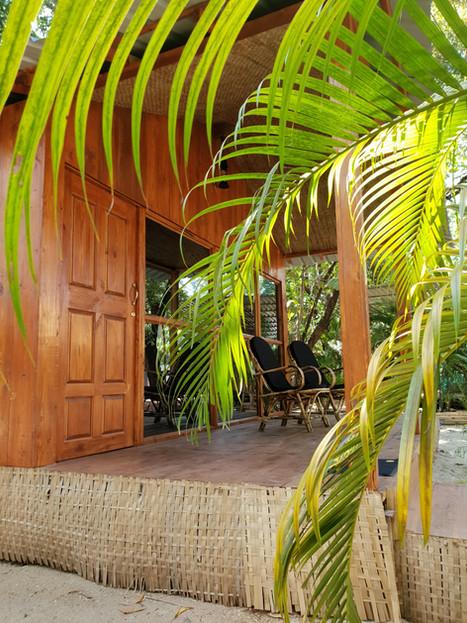 Deluxe Hut entrance