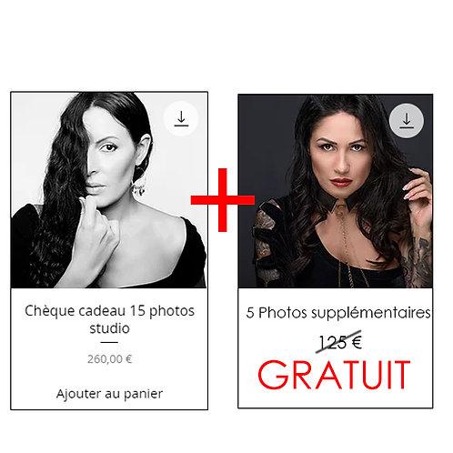 OFFRE DE NOEL : Forfait 15 photos + 5 photos offertes