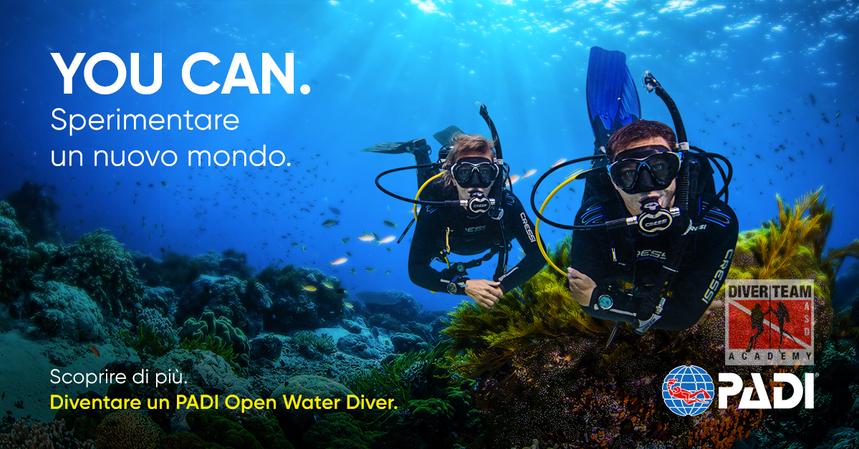 Diventa un PADI Open Water Diver