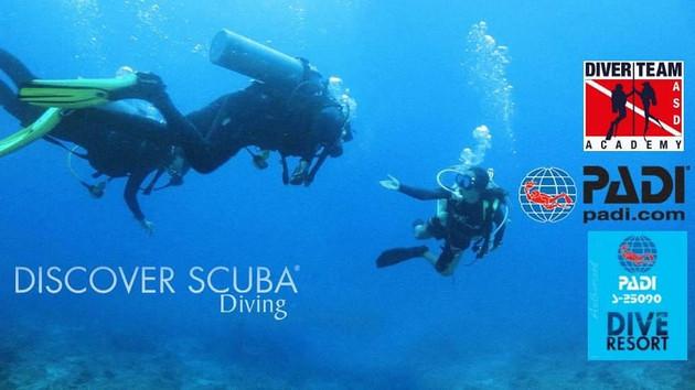 Prova Gratuita PADI Discove Scuba Diving