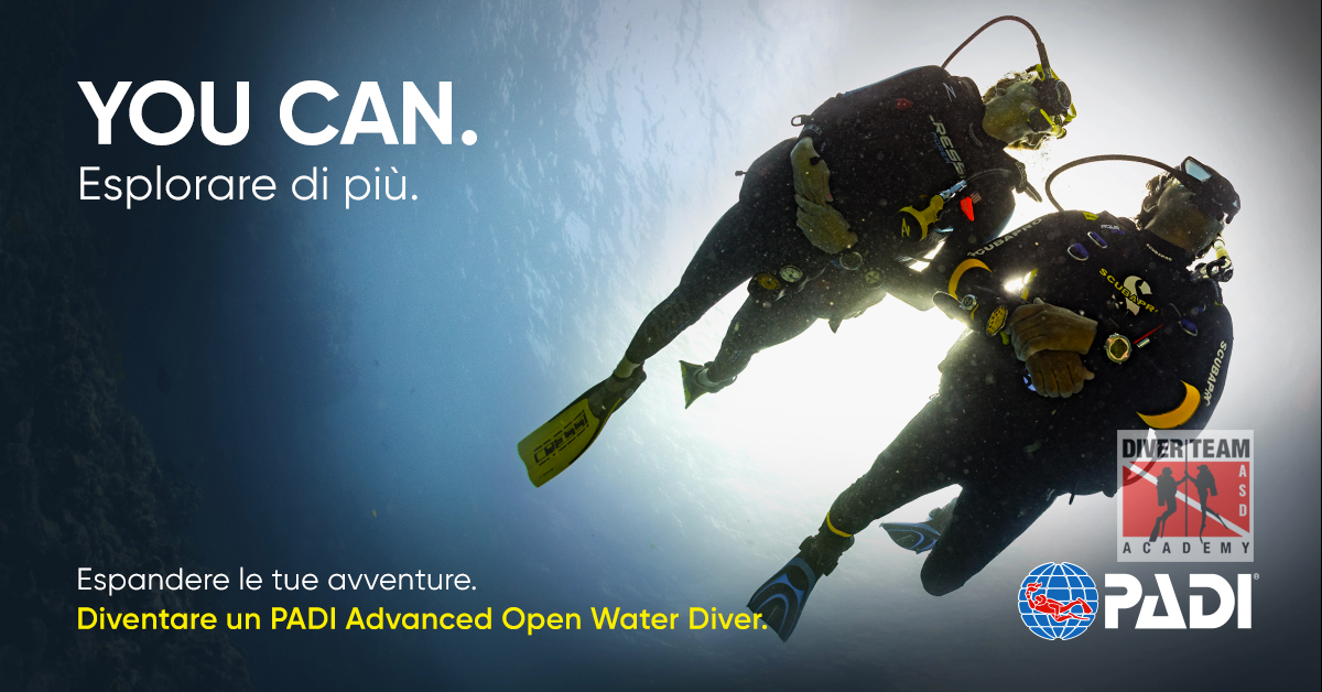 Diventa un PADI Advanced Open Water Diver