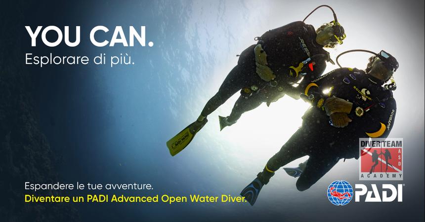 Diventa un PADI Advanced Open Water Diver