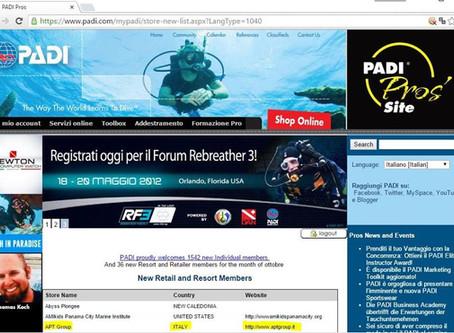 E' ufficiale... APT Group è un PADI Dive Resort!