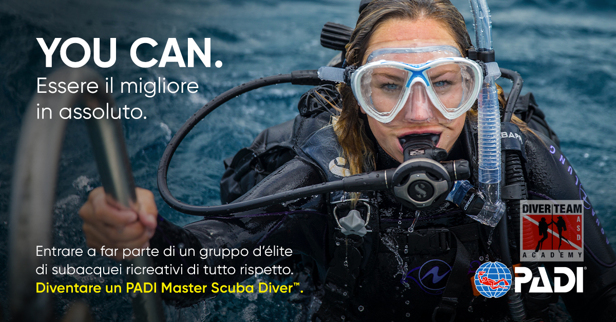 Diventa un PADI Masteri Scuba Diver
