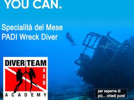 Specialità del Mese - PADI Wreck Diver