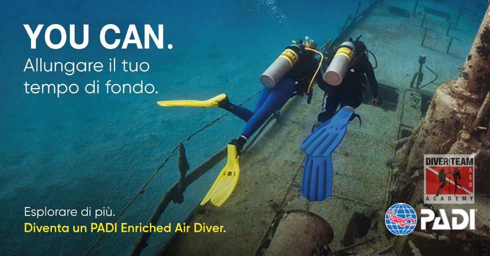 Diventa un PADI Enriched Air Diver