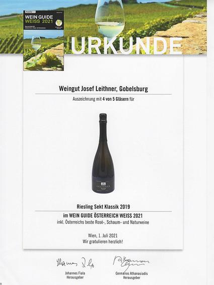 Urkunde Wein Guide Österreich Weiß 2021