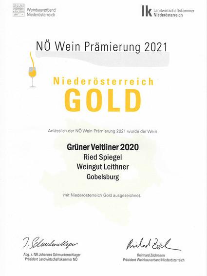 Auszeichnung Gold
