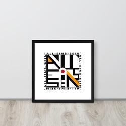 Poster ALL-EINs-SEIN