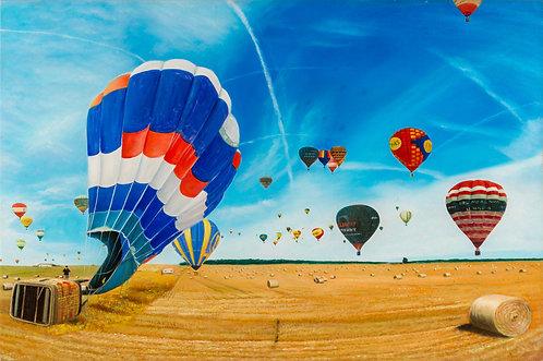 Shay Kun, Balloon air, Oil on canvas, 2012