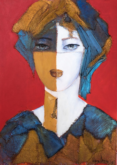 Liliane Danino, Queen of the desert, Idealized portrait, natural pigment