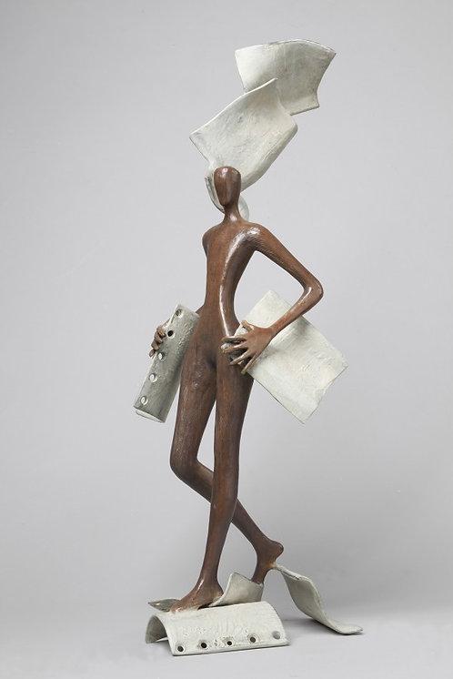 Tolla Inbar, Inspiration, Bronze sculpture