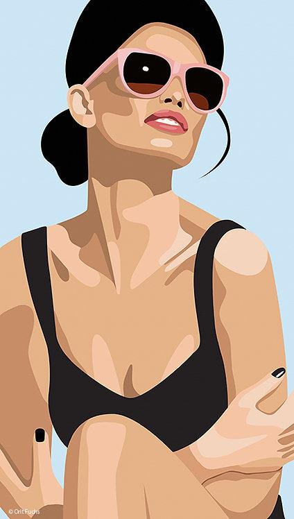 Orit Fuchs: Vivid 89 - Oil & Acrylic female figure painting