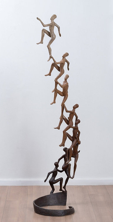 Tolla, Sky is no longer the limit, spiritual theme, Bronze sculpture