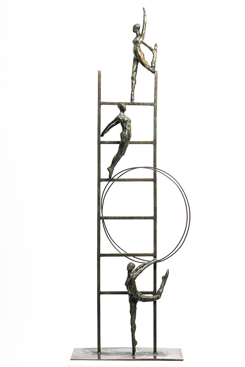 Liliane Danino, ladder for all, Elevation, Bronze Sculpture
