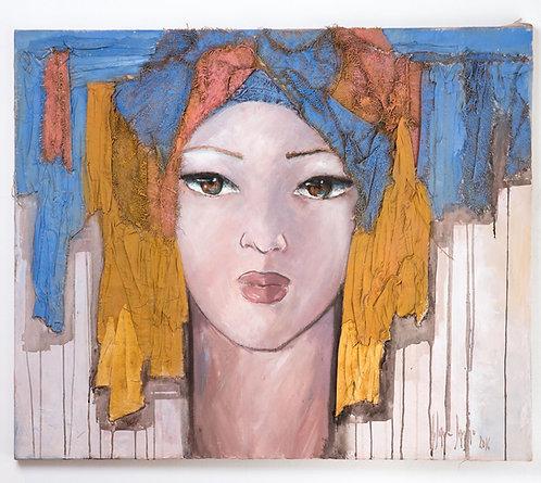 Lilaine Danino, Rose de sable,painting