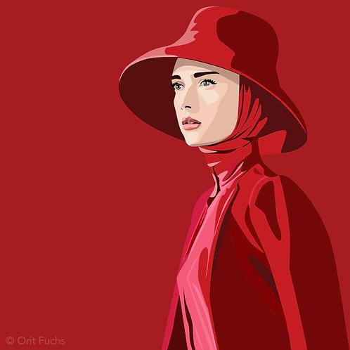 Orit Fuchs: Vivid 64 - Giclee print on canvas female figure painting