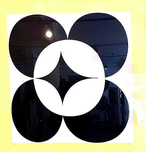 Yaacov Agam, Yellow in circles, Lithograph, ed 194/240