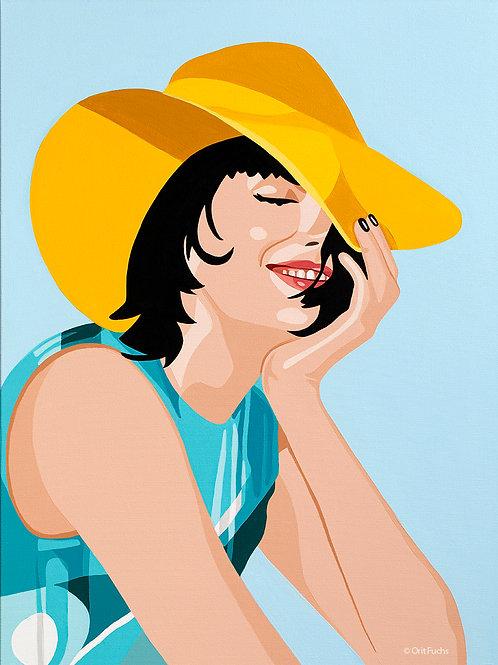Orit Fuchs: Vivid 103 - Giclee print on canvas female figure painting