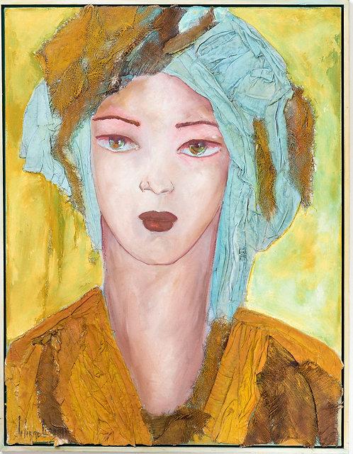 Liliane Danino, Queen of the desert, turquoise, Woman of virtue