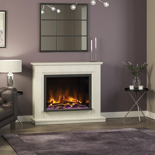 Elgin & Hall Alesso Micro Marble Electric Fireplace
