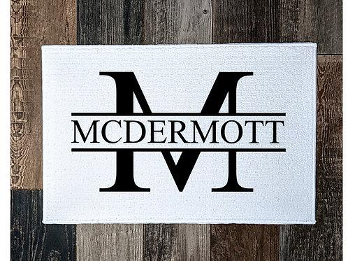 Monogram mini rug