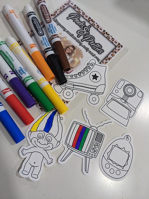 Color me Retro Sticker Pack