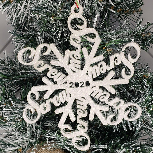 Screw 2020 Tree Ornament