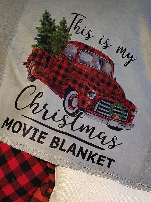 Christmas movie watching blanket