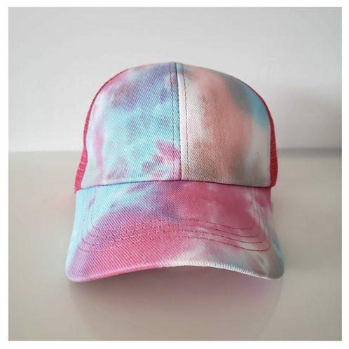 Tye Dye Ponytail Criss Cross Baseball Cap