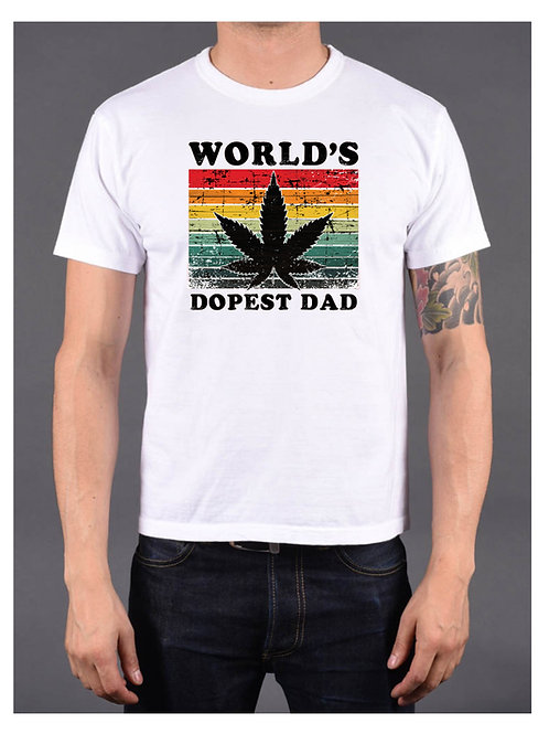 World's Dopest Dad tee
