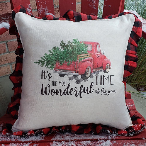 Have yourself a Merry little Christmas ( Buffalo plaid pillow)