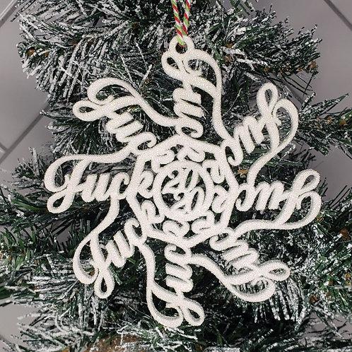 F**K 2020 Tree Ornament