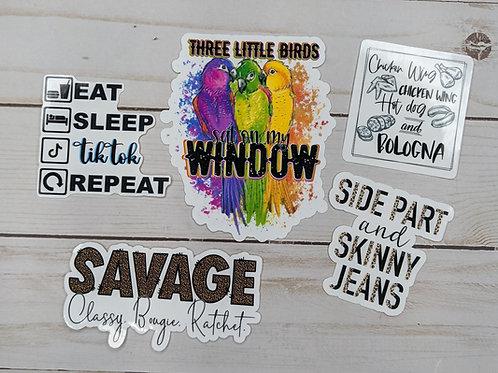 Tik Tok Inspired Sticker pack