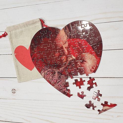 Heart photo puzzle