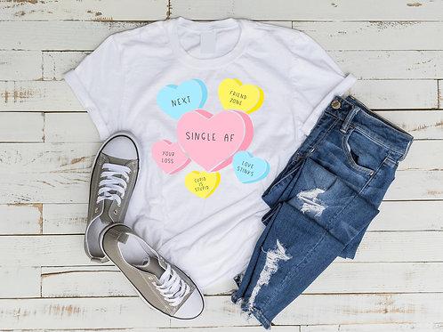 Single AF Candy Hearts Shirt
