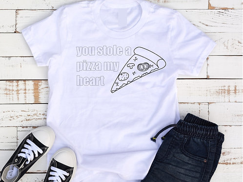 You Stole A Pizza My Heart Kids coloring shirt