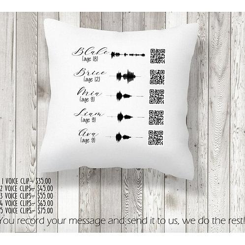 Voice Clip Pillow