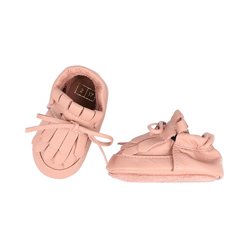 Loafer Lace Up Moccasin Rose Dawn
