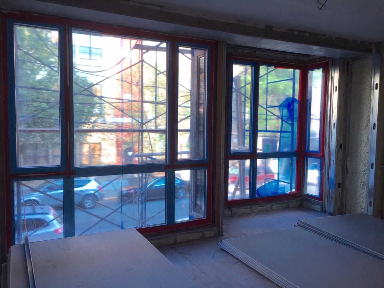 Floor to ceiling windows in bedrooms