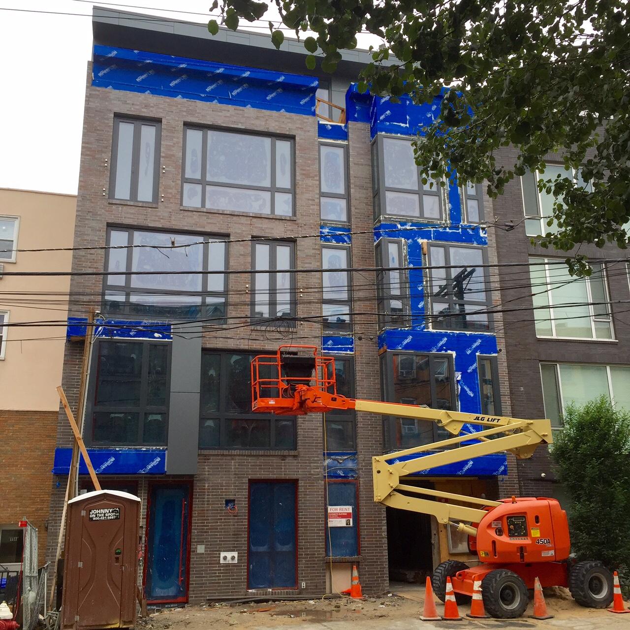 June 15, 2015--scaffolding is down