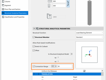 Functionality Improvements of the Structural Analytical Model