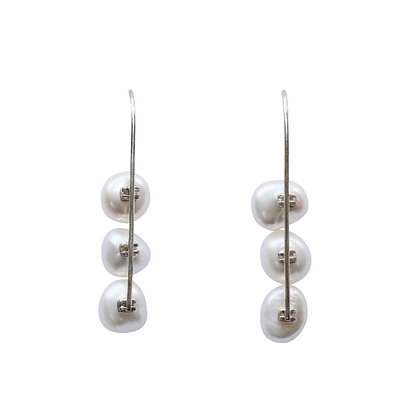 Small Pearly White Earrings