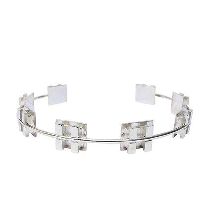 Large Silver Neck Brace