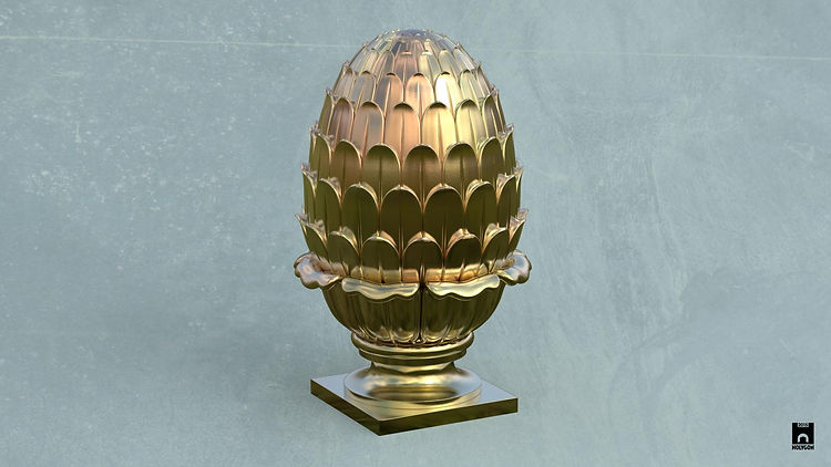 Holygon (2015) Finial Artichoke Gold. 01