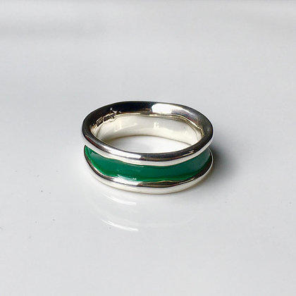 Green on Silver