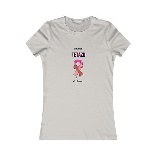 Un Tetazo Breast Cancer Pink Ribbon Fists Women's Favorite Tee