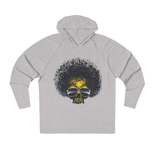 Afro Skull Aviator Glasses Unisex Tri-Blend Hoodie