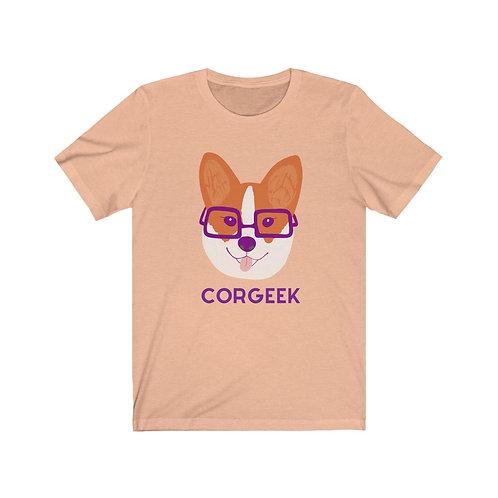 Corgeek Funny Unisex Jersey Short Sleeve Tee