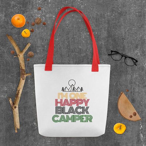 Happy Black Camper Tote bag